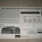 Sansui Seven Receiver AD from 1972,2 pgs,specs,RARE!