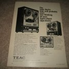Teac A-6010,A1200,A-4010S Open Reel Ad from 1968,NICE!