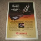 Hitachi DA-1000,DA-800 Vintage CD player Ad from 1984