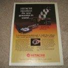 Hitachi DA-1000,DA-800 Vintage CD player Ad from 1984