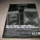 KEF Coda,Carina,Carlton Speaker Ad from 1983