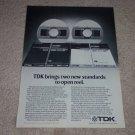 TDK GX Studio Tape,LX Studio Tape, Ad,1981,Open Reel