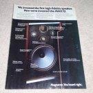 Magnavox Max12 Speaker Ad, 1976, Article,specs