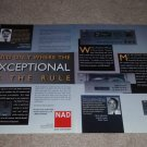 NAD AV-716 rec,917 Pre,513 CD Ad, 1995, 2 pgs, Article