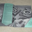Garrard 32 pg Booklet,Lab 80,A70,AT60,50,Articles,Specs