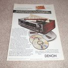 Denon DRM-700 3 head Tape Deck Ad from 1990