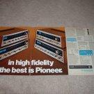 Pioneer 4 pg Receiver Ad, 1974,SX-828,727,626,525,specs