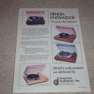 Denon DP-6700,3500,790,1500 Turntable Ad,Article, 1978