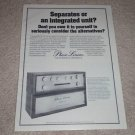 Phase Linear 200b,2000 Preamp Ad,1978, Specs, RARE!