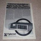 Kyocera DA-01 Fist CD Player Ad, 1982, Article, RARE!