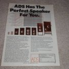 A/D/S AD, 1978, 910 BA, 200, Entire Line, Article, RARE