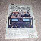 McIntosh MC2600 Power Amp Ad from 1992,Beautiful!