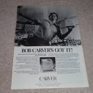 Carver M-400 Cube Amp Ad,Bob Dancing! Specs,Beautiful!