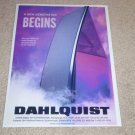 Dahlqist DQ-20 Speaker Ad,1993, Beautiful Ad, RARE!