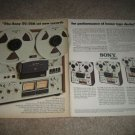 Sony TC-756,755,758,788-4 Open Reel Tape Ad,2 pgs,1975