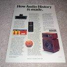 Altec Lansing Model 14 Speaker Ad,Manaray Horn! 1975