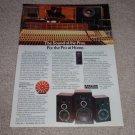 Altec Lansing Model 4,6,8 Speaker Ad,Color, LZT Tweeter