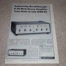 Scott 233,299d Amplifier Ad,1964, Specs, Article, Tube!