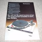 Technics Direct Drive Turntable ad from Q-3 1979