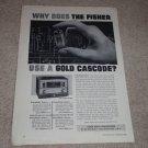 Fisher FM-90x Tube Tuner Ad,Article, 1958, Rare Ad!