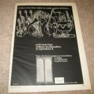 BOZAK Concert Grand Speaker Ad from 1968,NICE AND RARE!