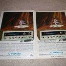 2 Pioneer Ads,SX-1500TD, color, RARE!!