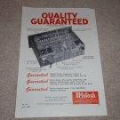McIntosh C8 Audio Compensator Ad,1958, Details, RARE!