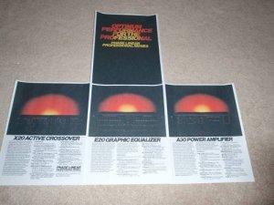 Phase Linear Pro Line Brochure,4  pgs,1979, X20,A30,E20