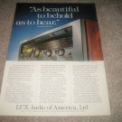 Luxman R-1120 Receiver Ad from 1978,color,1 page