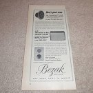 Bozak B-800,B-801 Speaker Ad from 1955,Super RARE!