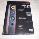 B&W Nautilus N803 Series Speaker Ad from 1999