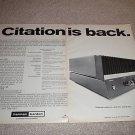 Harman Kardon Citation 12 Amp ad fr 1970,full specs!