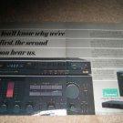 Sansui AU-G99X AMp,TU-D99X 2 page Ad from 1984,PC-X11