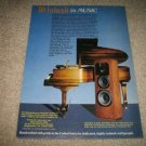 McIntosh XR 1052 Speakers AD from 1990,Beautiful!