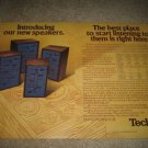 Technics Speaker Ad from 1974,T-500,400,300,200