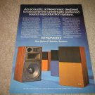 Pioneer R Series Speakers Ad from 1973,color, RARE!