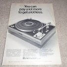 Pioneer PL-A25 Turntable Ad from 1970, Nice!