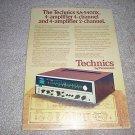 Technics SA-5400X QUAD Receiver Ad 1973,Specs,nice!