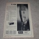 Philips AKG C-12A Microphone Ad,1965,Specs,Article,RARE