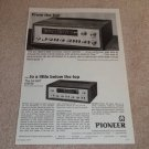 Pioneer SX-1000ta,SX-300t Receiver Ad, 1967, Articles