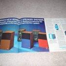 Pioneer 4 page Ad, R-Series Speakers, specs, pics,RARE