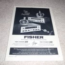 Fisher 600, 800 Receiver Ad from 1960, very rare!