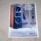 Klipsch Epic Series Speaker Ad,1992,Beautiful! 1 page