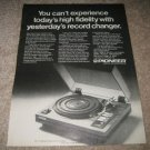 Pioneer Turntable Ad from 1980, PL-71, perfect!