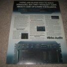 Nikko Audio Beta III,Alpha III Ad from 1979,specs,color