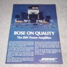 Bose 1801 Power Amplifier Ad, 1975, Very Rare! Article