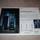 Polk RTA 8t,11t Speaker Ad from 1992,2 pages, article