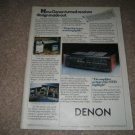 Denon 95VR Ad from 1987, near mint