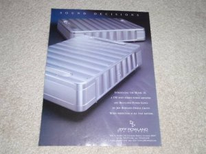Jeff Rowland Model 10 Amplifier Ad, 1999, Article, Nice