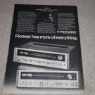 Pioneer SX-828,727 Receiver Ad, 1972, Specs, Article